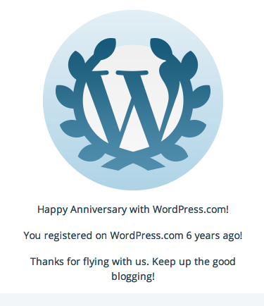 whoah! 6 years and counting!